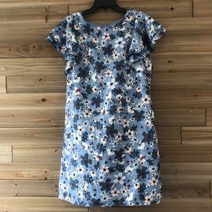 ❤️ Loft Blue Flutter Sleeve Shift Dress Size M ❤️